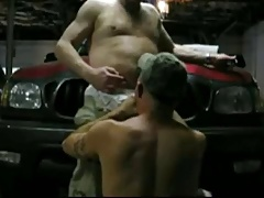 Mature Couple Bareback in Garage