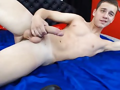 Handsome Russian Cute Guy With Fucking Hot Ass Cums On Cam