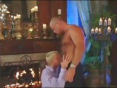 The boss man fucks his blond twink