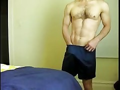 Horny guy in shorts